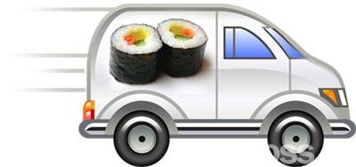 этом развозка суши на своем авто Водитель