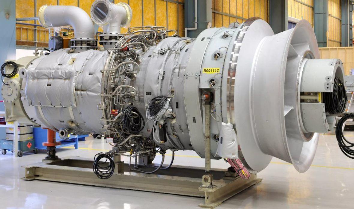 Так выглядит газо-турбинная установка