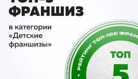 2 место в категории ДЕТСКИЕ ФРАНШИЗЫ в независимом рейтинге beboss.ru
