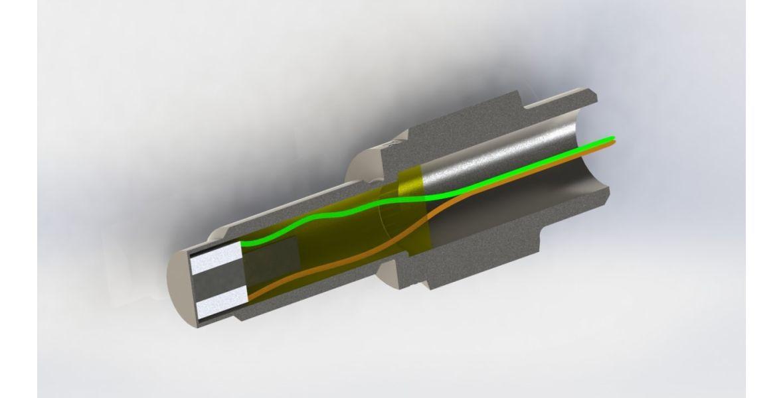3Д модель датчика в разрезе