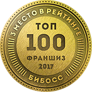 Аскона №3 в рейтинге франшиз ТОП-100 2017 от БИБОСС
